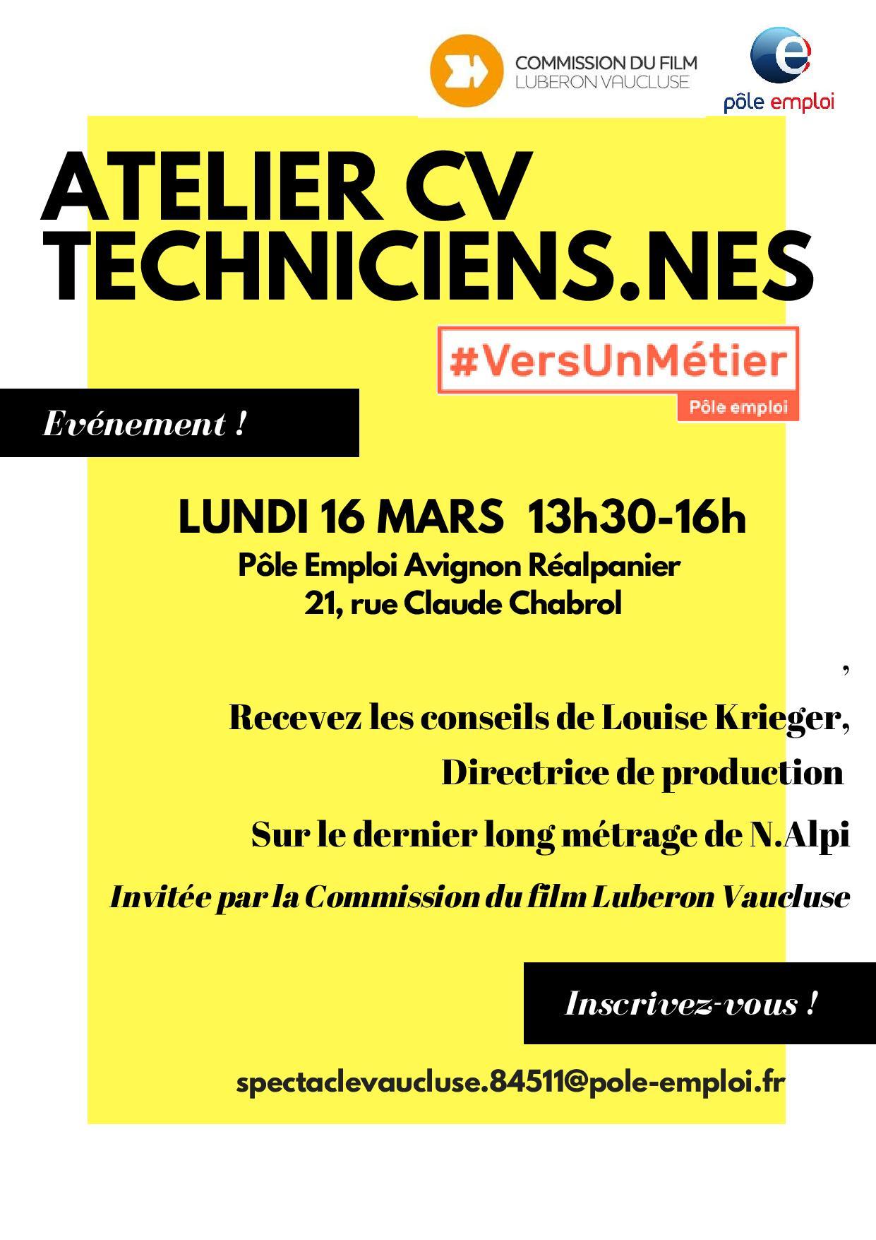 Atelier CV des Techniciens.nes