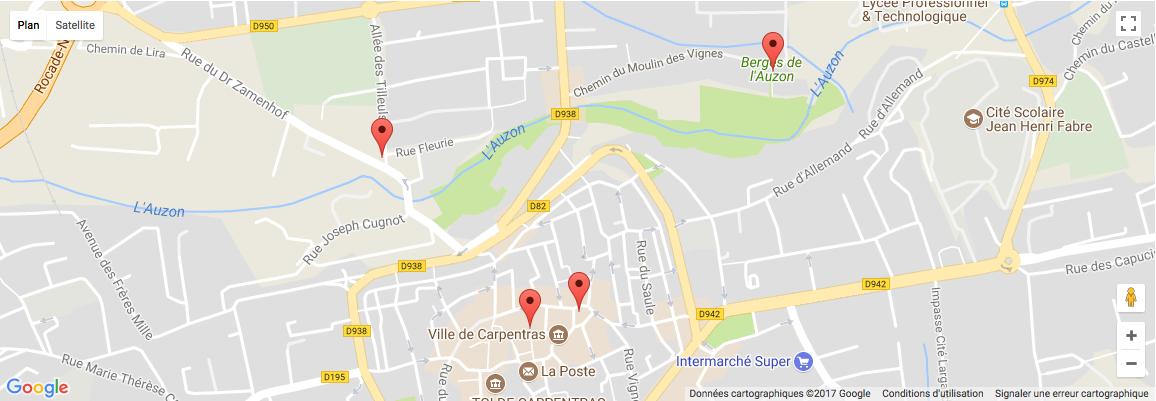 ReperTour à Carpentras : Synagogue des Juifs du Pape, berges de l'Auzon...