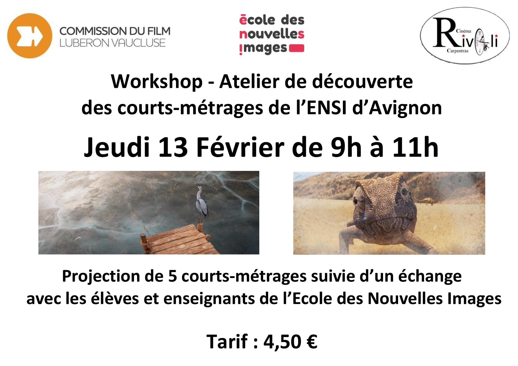 Workshop Métiers du cinéma, 13 Février 2020